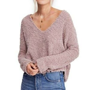 NWT Free People Popcorn Pullover Sweater Lavender